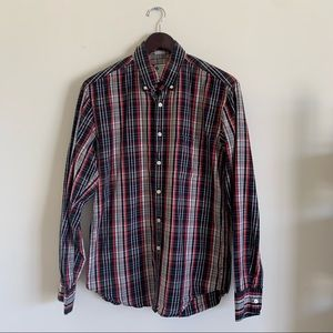 J. Crew Tailored Fit Men's Plaid Button Down Shirt
